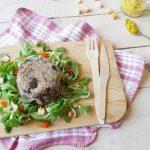 Hamburger vegetariani di melanzane con olive